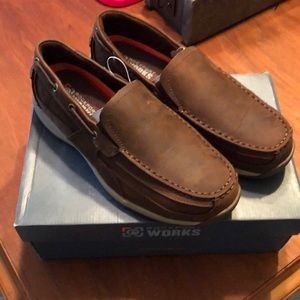 Rockport Works Sailing Oxfords with Steel Toe